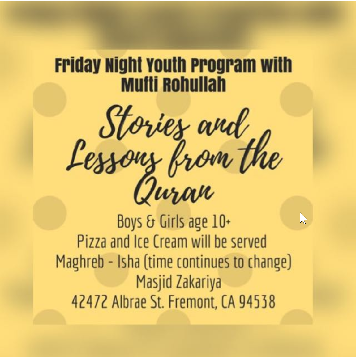 Friday Youth Program