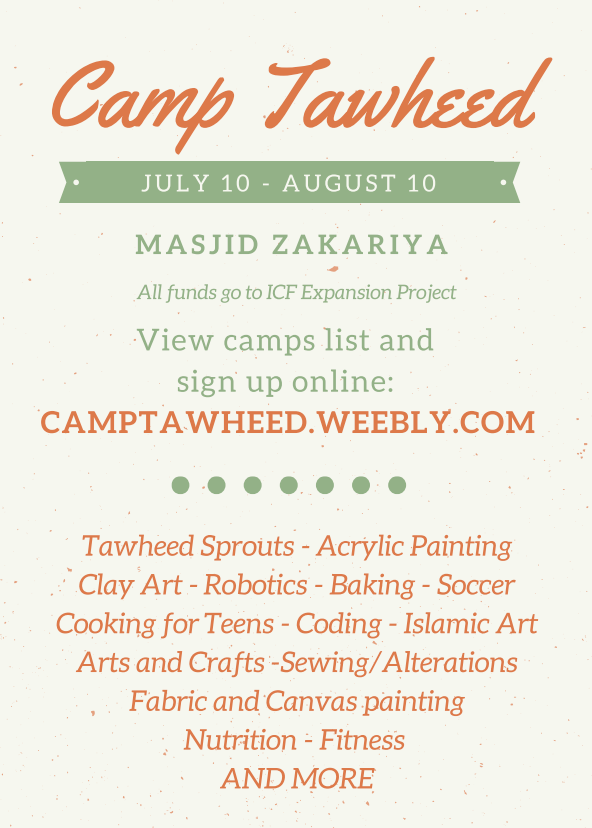 Camp Tawheed Flyer